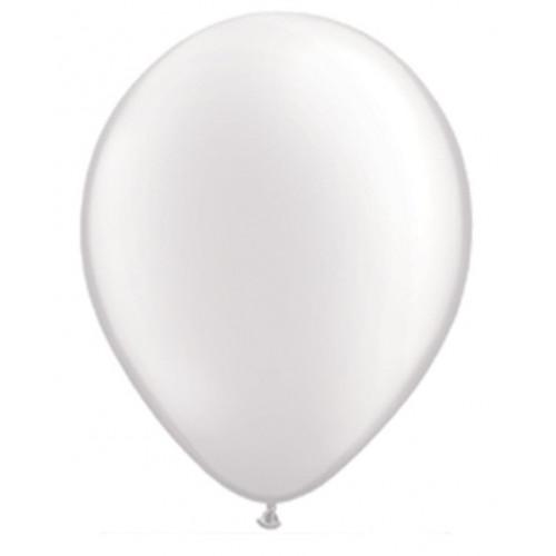 Qualatex Ballonger, vit pärlemo