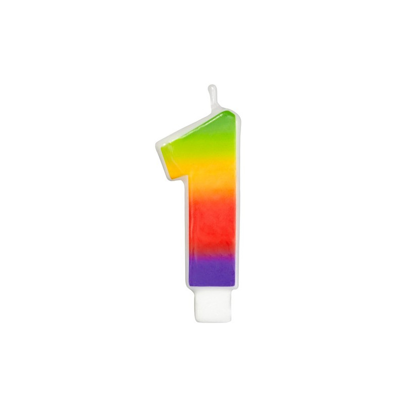 Wilton Tårtljus, sifferljus, 1, Rainbow