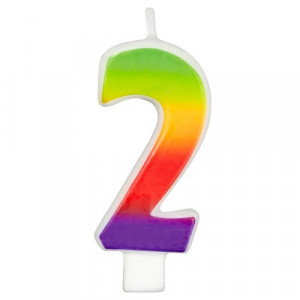 Wilton Tårtljus, sifferljus, 2, Rainbow