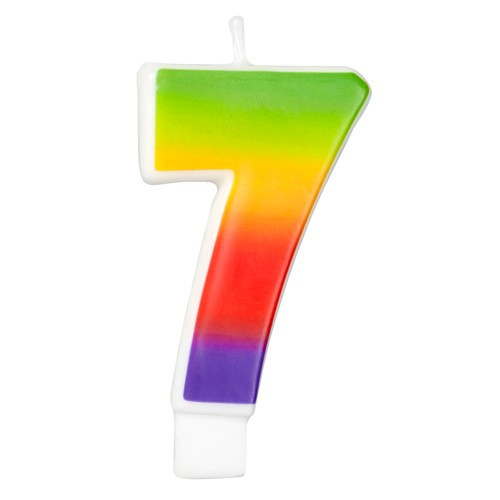 Wilton Tårtljus, sifferljus, 7, Rainbow