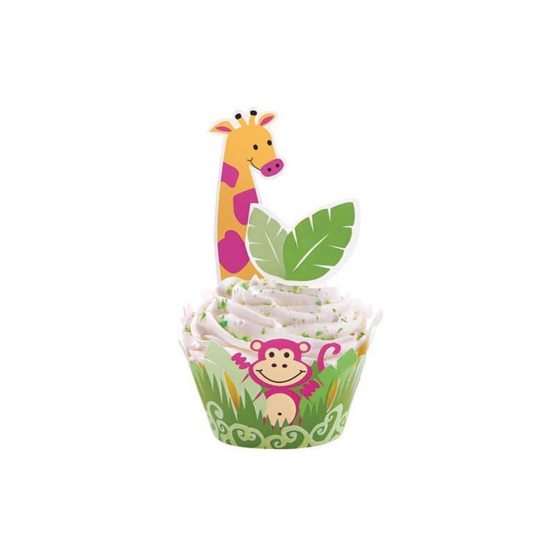 Wilton Cupcake Wrap Kit, Jungle Pals
