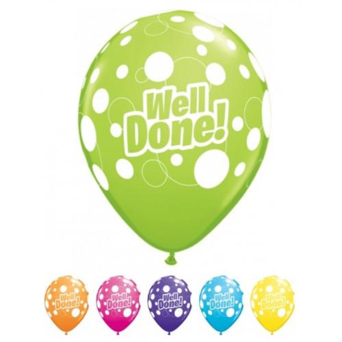 Qualatex Ballonger Well Done Dots