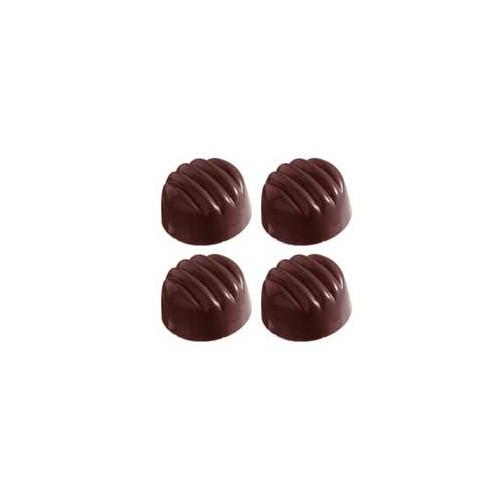 Chocolate World Pralinform Randig rund