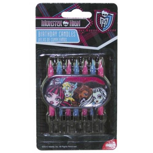 Tårtljus Monster High, blå och rosa