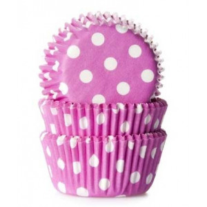 House of Marie Minimuffinsform Polkadot Pink