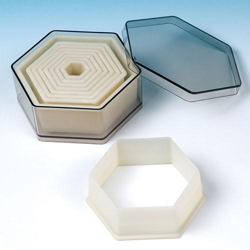 Fat Daddio's Utstickare Hexagon, 9 delar