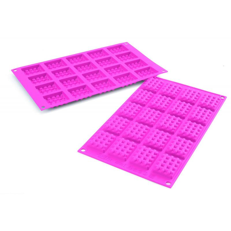 Silikomart Silikonform Minivåfflor, rektangulära