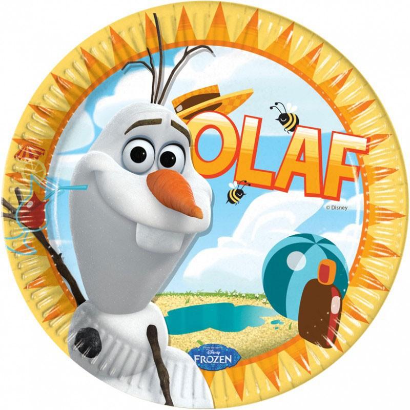 Disney Papperstallrikar Frozen, Olaf, stora