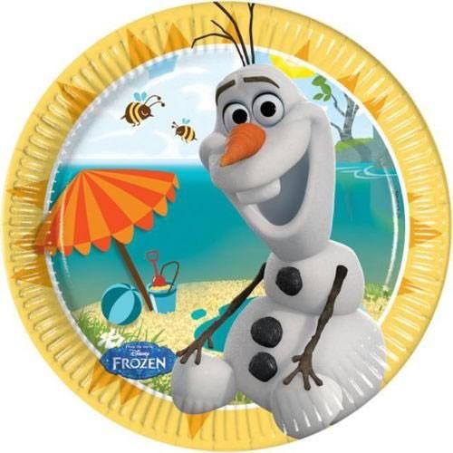 Disney Papperstallrikar Frozen, Olaf, små