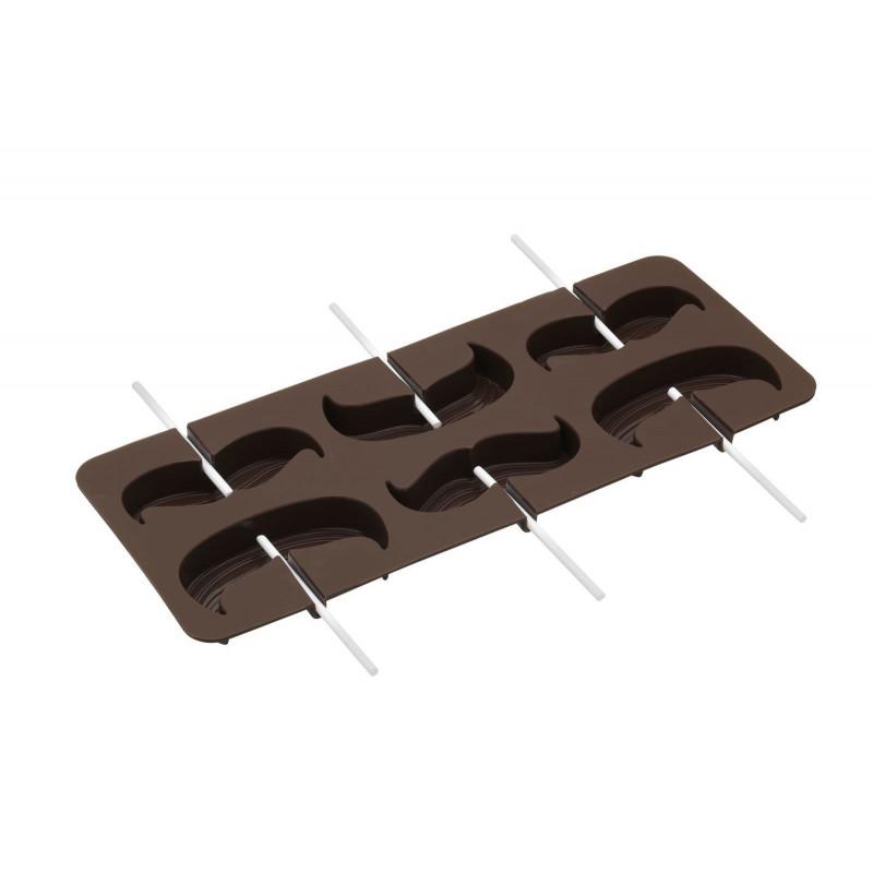 Kitchen Craft Silikonform choklad, mustasch