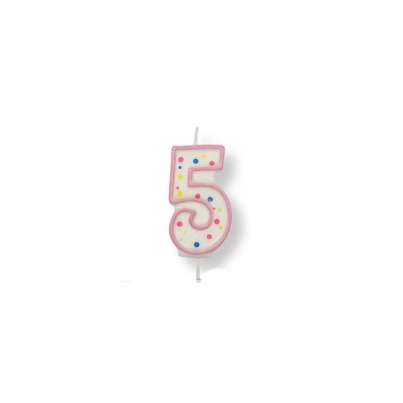 PME Tårtljus Sifferljus, 5, rosa