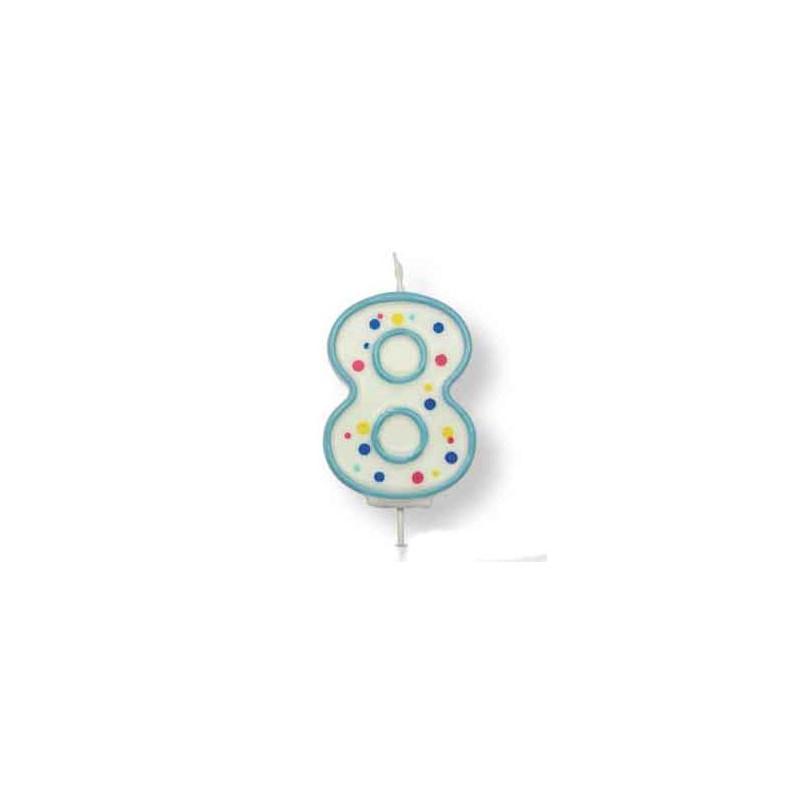 PME Tårtljus Sifferljus, 8, blå