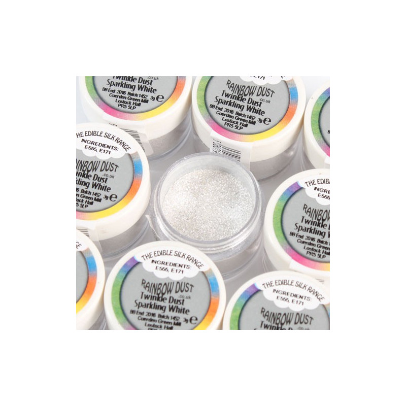 Rainbow Dust Pulverfärg Twinkle Dust Sparkling White
