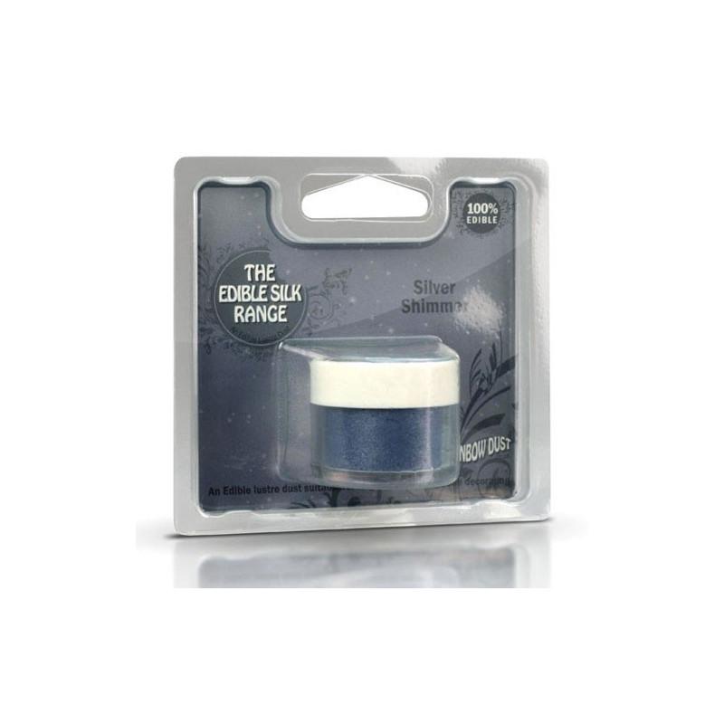 Rainbow Dust Pulverfärg Silver Shimmer