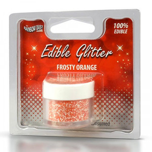 Rainbow Dust Ätbart glitter, Frosty Orange