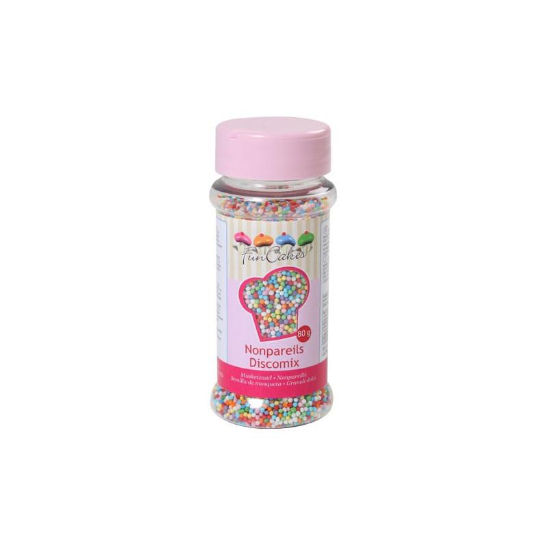 FunCakes Sockerpärlor Discomix, 80 gram