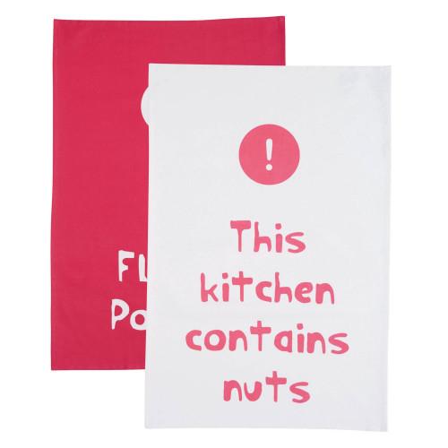 Kitchen Craft Kökshandduk Quotes, 2-pack