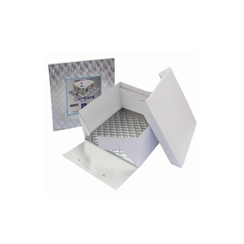 Tårtkartong med kvadratisk bricka, 22,8 cm - PME