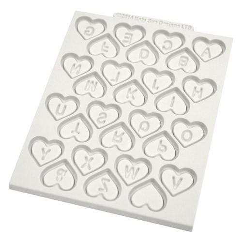 Katy Sue Designs Silikonform Bokstäver i hjärtan