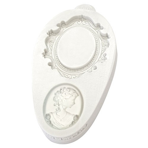 Katy Sue Designs Silikonform Ram Oval Cameo