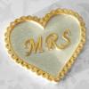 Katy Sue Designs Silikonform Mrs Heart