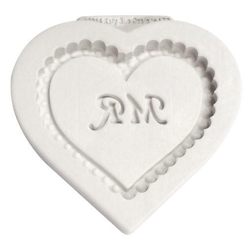 Katy Sue Designs Silikonform Mr Heart
