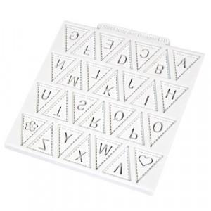 Katy Sue Designs Silikonform Bokstäver, Bunting Alphabet