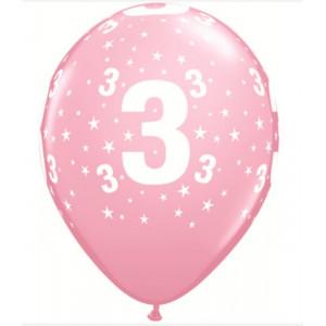 Qualatex Ballonger nr 3, rosa