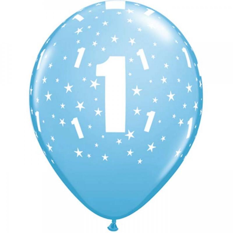 Qualatex Ballonger nr 1, blå