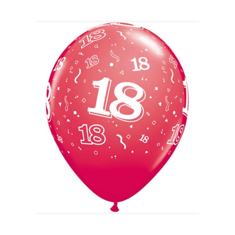 Qualatex Ballonger nr 18, röd