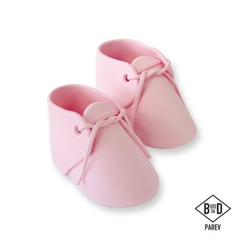 PME Tårtdekoration, Ätbara babyskor, rosa