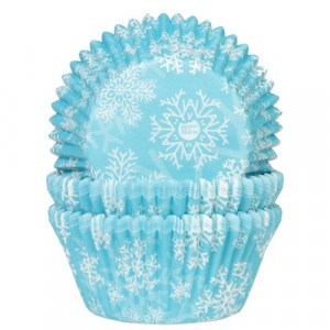 House of Marie Muffinsform Snow Crystal Blue