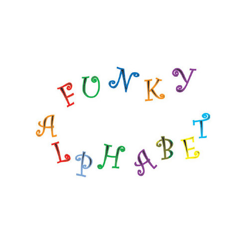 Fmm Utstickare Funky Alphabet & Numbers