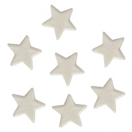 FunCakes Tårtdekorationer Stjärnor, vita, ätbara