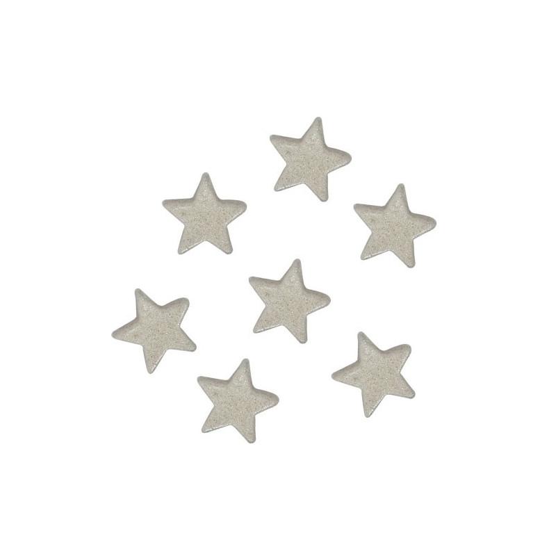 FunCakes Tårtdekorationer Stjärnor, silver, ätbara