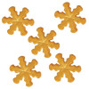 FunCakes Tårtdekorationer Snöflingor, guld, ätbara