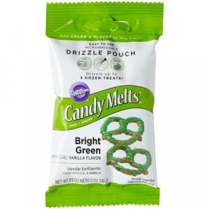 Wilton Candy Melts Drizzle Pouch, gröna, 56 g