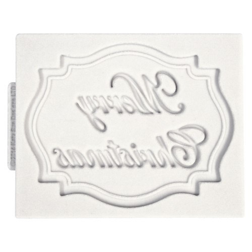 Katy Sue Designs Silikonform Plaque Merry Christmas