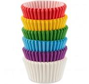 Minimuffinsformar Olika färger