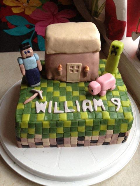 Minecraft tårtan!