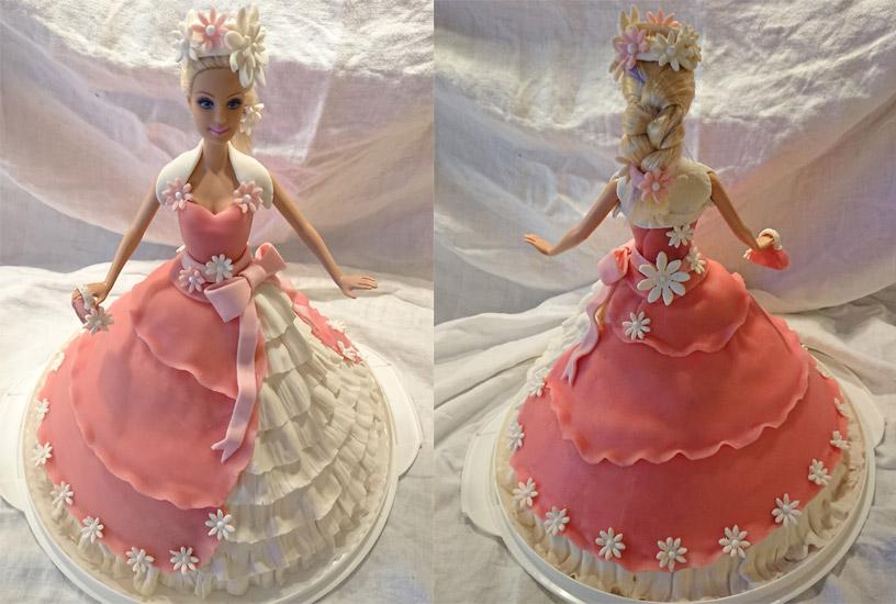 Rosa prinsesstårta, barbietårta.