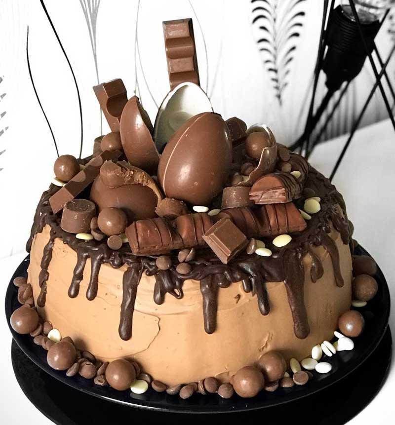 chokladtårta med godis