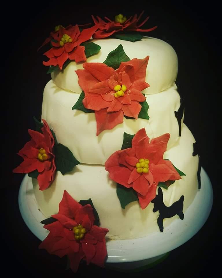 En bröllopstårtan i juletider insänt av Lenah Hedéen