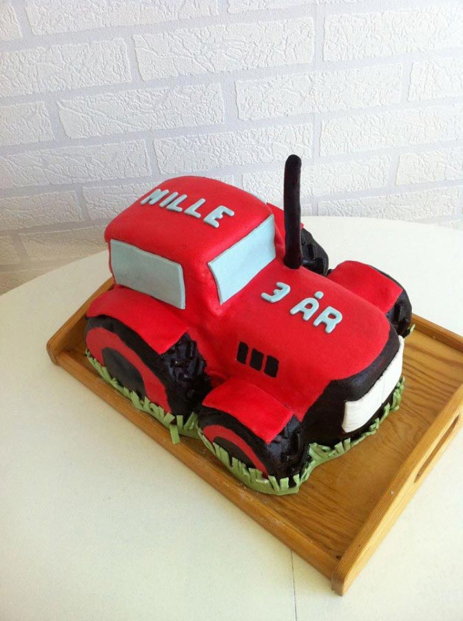 Festtarta traktor