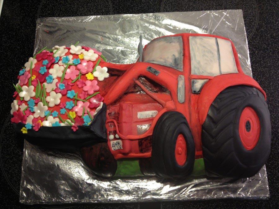 Traktortarta - Blommor