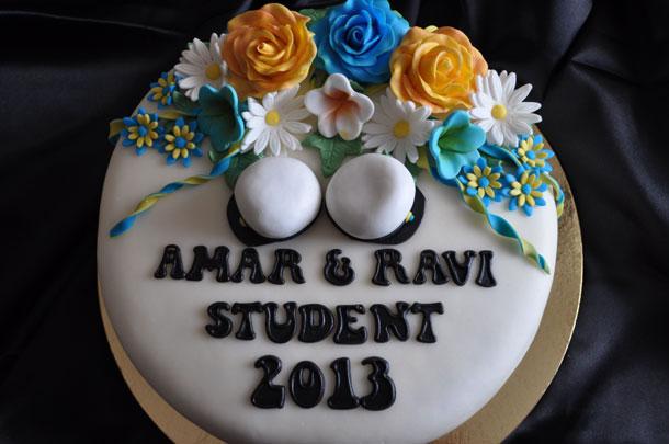 baka egen studenttårta