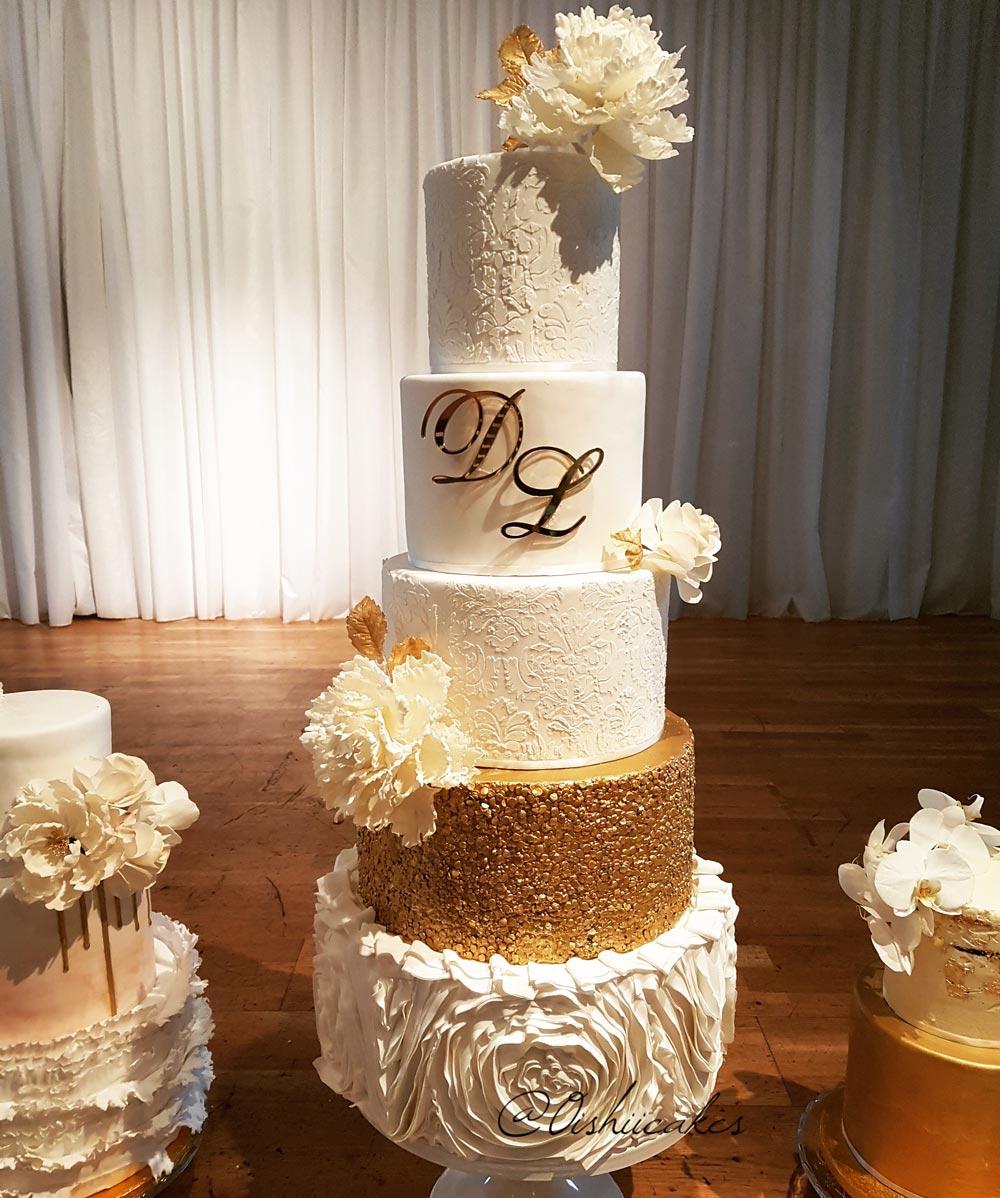 Brudens Bröllopstårta insänd av Lisa