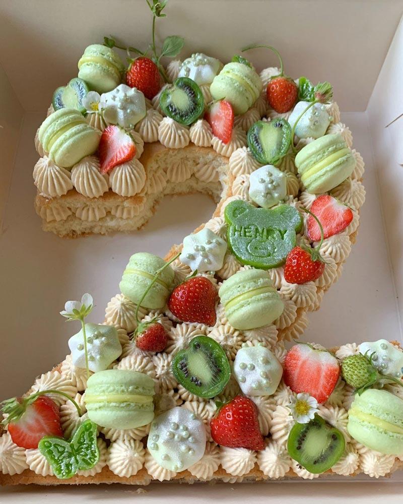 Siffertårta tvåa grön