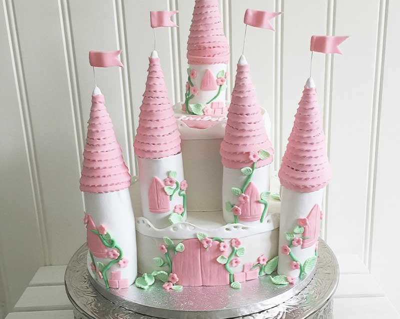 Vacker slottårta