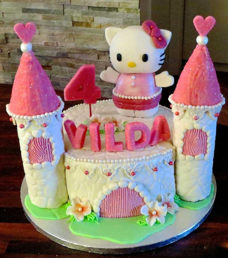 Tårta med slott.